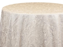 Rental store for WHITE PAISLEY LACE LINEN in Mishawaka IN