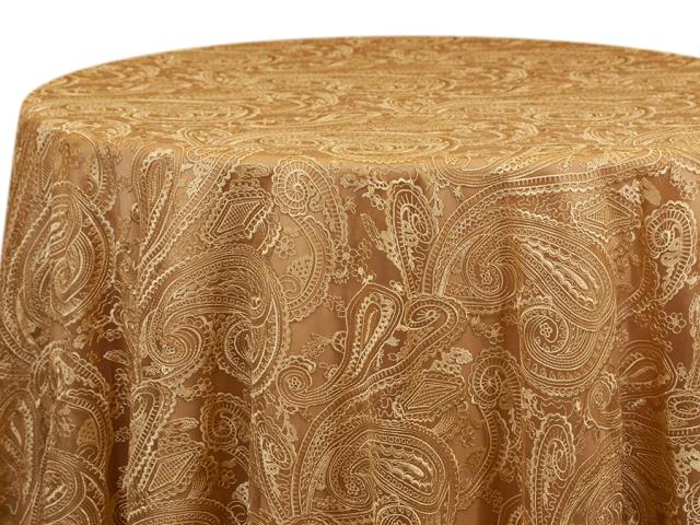 Where to find GOLD PAISLEY LACE LINEN in Mishawaka