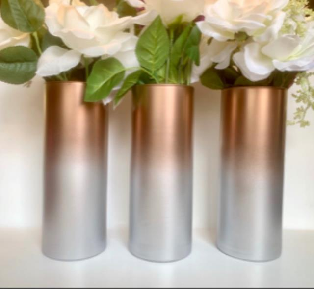 Where to find ROSE GOLD OMBRE CYLINDER VASE in Mishawaka