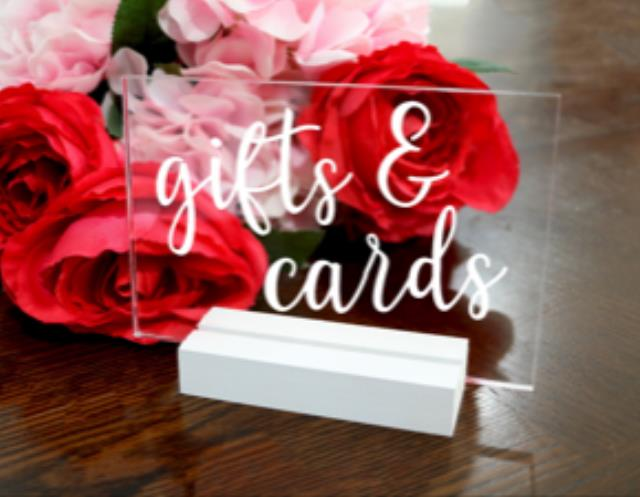 Where to find ACRYLIC SIGN GIFTS CARDS in Mishawaka