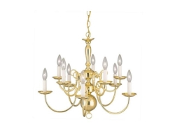 Rental store for CHANDELIER, 10- LIGHT BRASS in Mishawaka IN