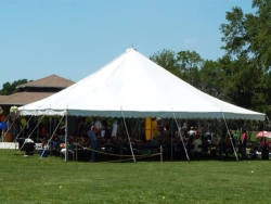Rental store for 40 X 40  WHITE WIND RESISTANT POLE TENTS in Mishawaka IN