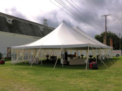 Rental store for 40 X 60  WHITE WIND RESISTANT POLE TENT in Mishawaka IN