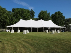 Rental store for 40 X100  WHITE WIND RESISTANT POLE TENT in Mishawaka IN
