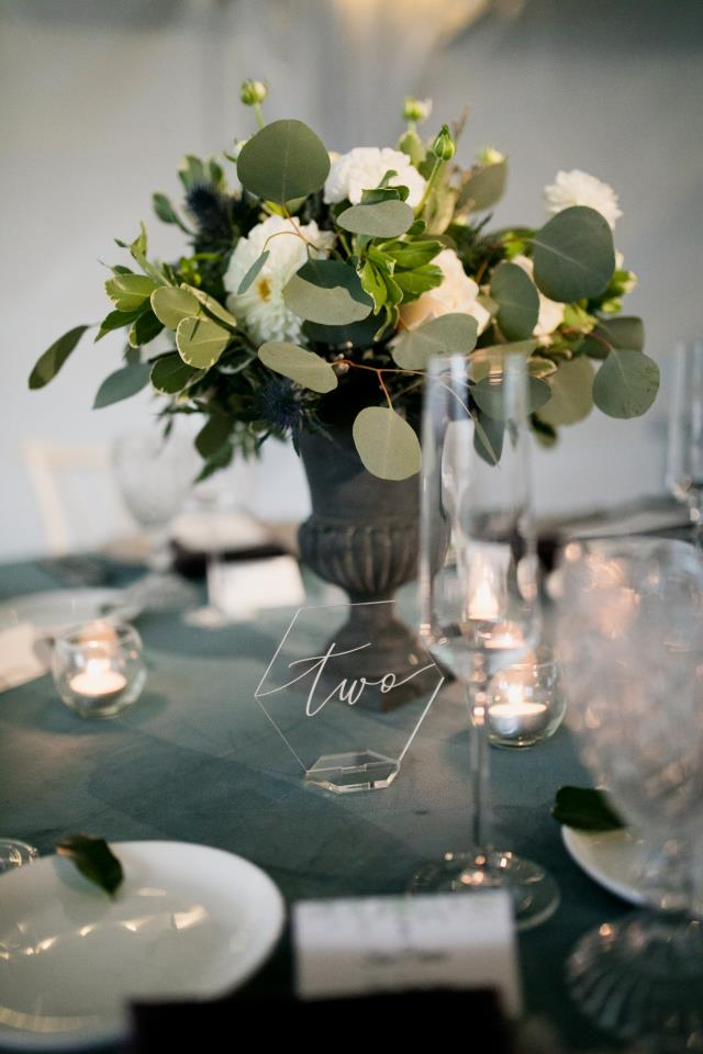 Where to find ACRYLLIC TABLE NUMBER in Mishawaka