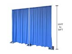 Rental store for 10-16  PIPE   DRAPE  PER FOOT in Mishawaka IN