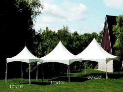 Rental store for 15 X15  WHITE VISTA FRAME TENTS in Mishawaka IN