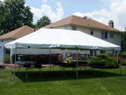 Rental store for 20 X20  WHITE EXPANDABLE FRAME TENTS in Mishawaka IN