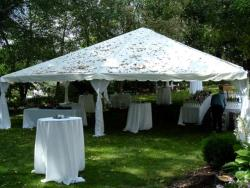 Rental store for 30 X 30  WHITE EXPANDABLE FRAME TENTS in Mishawaka IN