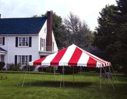 Rental store for 20 X20  R W POLE TENTS in Mishawaka IN