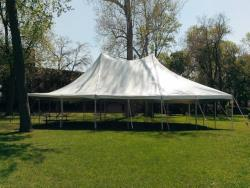 Rental store for 30 X60  WHITE ELITE POLE TENTS in Mishawaka IN