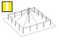 Rental store for 40 X 40  Y W MAIN EXPANDABLE POLE TENT in Mishawaka IN