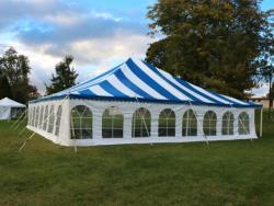 Rental store for 40 X 40  B W MAIN EXPANDABLE POLE TENT in Mishawaka IN