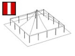 Rental store for 40 X 40  R W MAIN EXPANDABLE POLE TENTS in Mishawaka IN