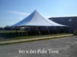 Rental store for 60 X 60  WHITE GENESIS POLE TENT in Mishawaka IN
