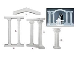 Rental store for GRECIAN PILLAR ARCHWAY  WHITE in Mishawaka IN