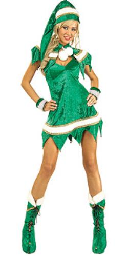 Rental store for SEXY GREEN ELF COSTUME in Mishawaka IN