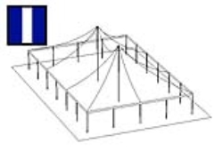 Rental store for 40 X 60  B W MAIN EXPANDABLE POLE TENT in Mishawaka IN