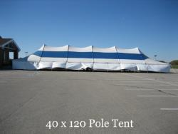 Rental store for 40 X120  B W MAIN EXPANDABLE POLE TENT in Mishawaka IN