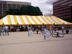 Rental store for 40 X140  Y W MAIN EXPANDABLE POLE TENTS in Mishawaka IN