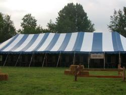 Rental store for 40 X160  B W MAIN EXPANDABLE POLE TENT in Mishawaka IN