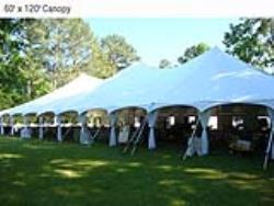 Rental store for 60 X120  WHITE GENESIS POLE TENT in Mishawaka IN