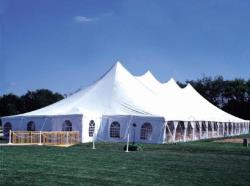 Rental store for 60 X150  WHITE GENESIS POLE TENT in Mishawaka IN
