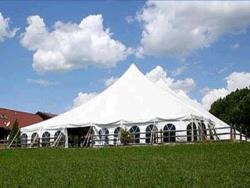 Rental store for 60 X180  WHITE GENESIS POLE TENT in Mishawaka IN