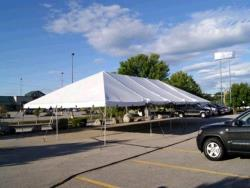 Rental store for 30 X 45  WHITE EXPANDABLE FRAME TENTS in Mishawaka IN