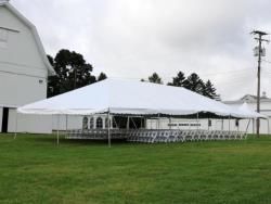 Rental store for 30 X 60  WHITE EXPANDABLE FRAME TENTS in Mishawaka IN