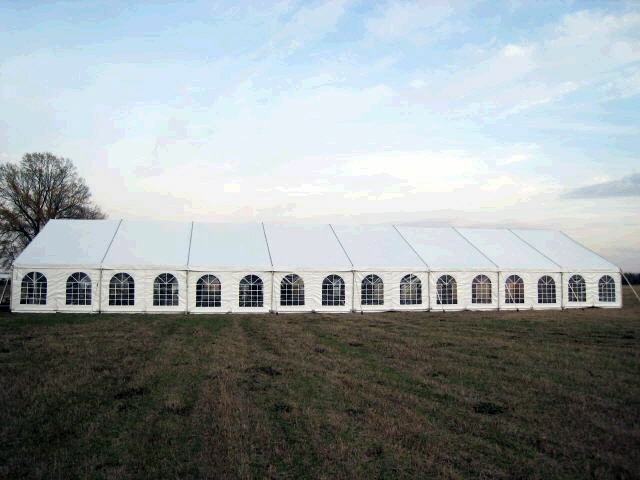 40 foot x120 foot white expandable frame tents | Burns Special Event ...