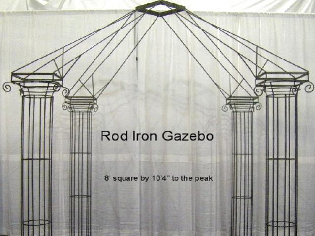 Where to find ROD IRON GAZEBO in Mishawaka