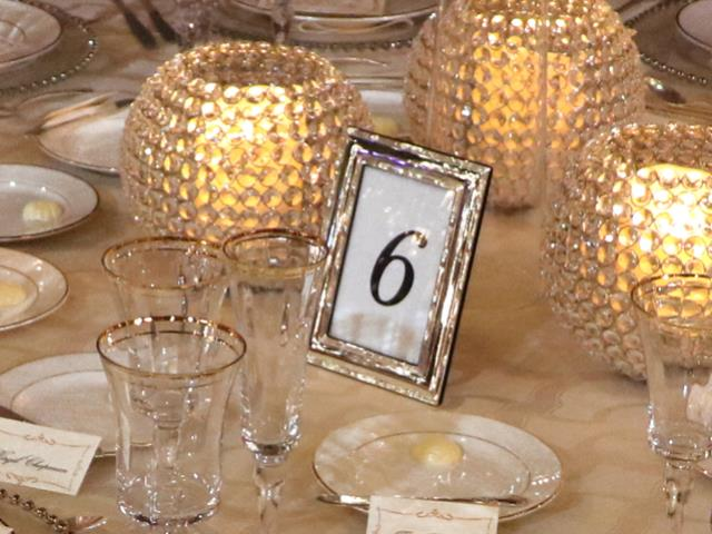 Silver table number frame 4x6 | Burns Special Event Rentals ...