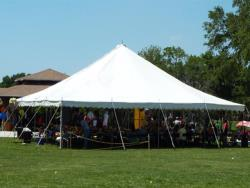 Rental store for 40 X 40  WHITE EVOLUTION POLE TENTS in Mishawaka IN