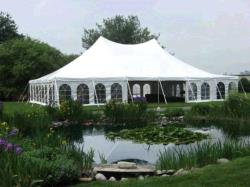 Rental store for 40 X 60  WHITE EVOLUTION POLE TENTS in Mishawaka IN