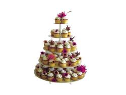 Rental store for 5-TIER CUPCAKE TREE  WHITE METAL in Mishawaka IN