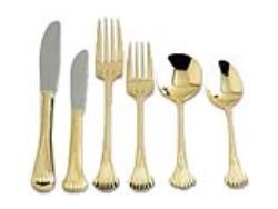 Rental store for GOLD FAN FLATWARE in Mishawaka IN