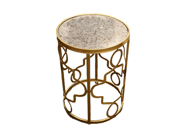 Where to find LARGE GOLD SWIRL ACCENT TABLE in Mishawaka