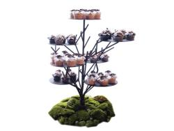 Rental store for RUSTIC TREE CUPCAKE STAND  BLACK METAL in Mishawaka IN