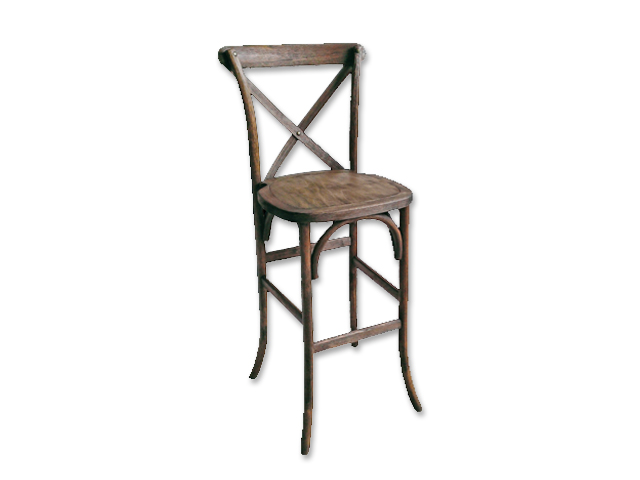 Outstanding French Country Barstool Walnut Burns Special Event Rentals Bralicious Painted Fabric Chair Ideas Braliciousco
