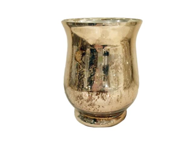 Gold Mercury Hurricane Vase Large Burns Special Event Rentals