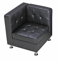 Rental store for BLACK LEATHER CORNER CHAIR in Mishawaka IN