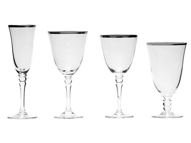 Where to find SILVER RIM GLASSWARE in Mishawaka
