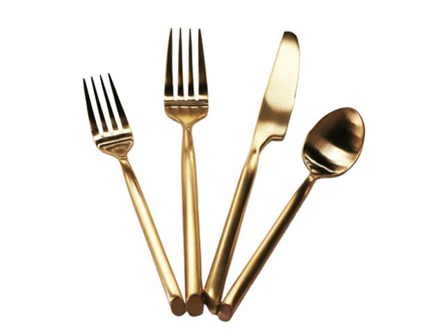 Where to find BRUSHED GOLD DINNER FORK in Mishawaka