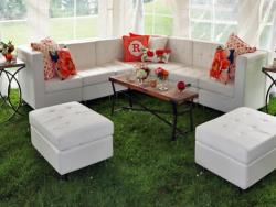Rental store for WHITE LEATHER MODULAR LOUNGE FURNITURE in Mishawaka IN