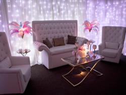 Rental store for WHITE LEATHER CRYSTAL LOUNGE FURNITURE in Mishawaka IN